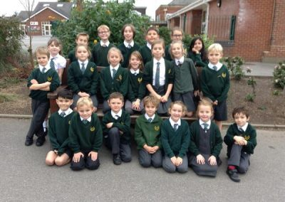 A class of children at Hill View Primary School.