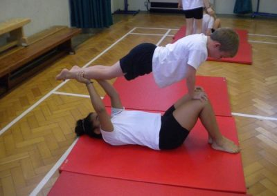 Gymnastics is one of the many sports at Hill View.